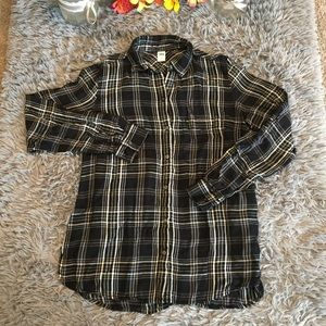 Old Navy Plaid Button Down Shirt Size S/P